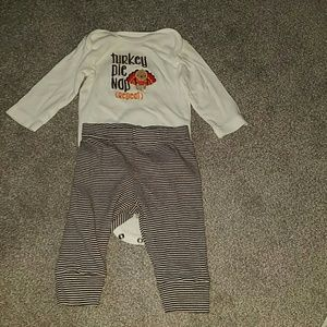6 month Thanksgiving Onesie and pant set
